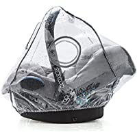 Zamboo - Universal Infant Car Seat Raincover (e.g. Maxi Cosi / Cybex / Graco / Britax / Joie / Cosatto) Ideal Air Circulation, Roll-Up Window and Opening to Simplify Carrying, PVC-Free - Grey
