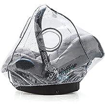 Protector de lluvia para sillitas de bebé universal y cómodo (por ejemplo, Maxi-Cosi / Cybex / Römer) | Buena circulación del aire, ventana de contactos que se puede cerrar, apertura de intervención para el asa, sin PVC