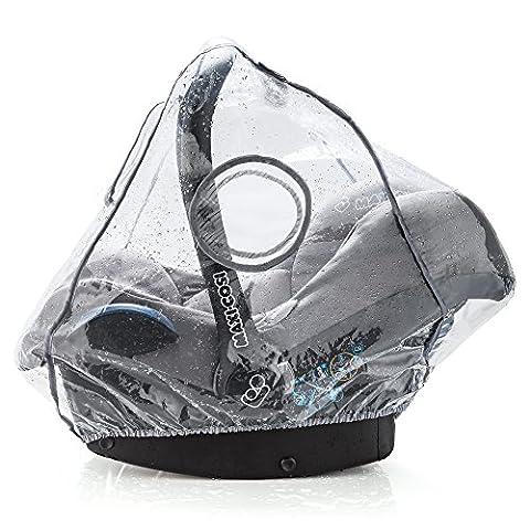 Habillage pluie confort universel pour tous types de sièges-autos bébé (Bébé Confort, Cybex, Recaro) | bonne circulation de l'air, fenêtre de contact, montage facile, ouverture de transport, sans PVC