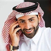 138 * 138cm Head Scarf + Headband for Men Muslim Arab Square Plaid Male Islamic Hijab Ramadan Saudi Arab Headband Accessories