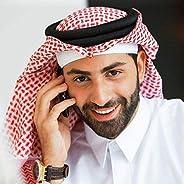 138 * 138cm Head Scarf + Headband for Men Muslim Arab Square Plaid Male Islamic Hijab Ramadan Saudi Arab Headb