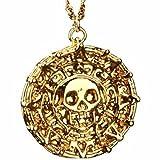 Fluch der Karibik Halskette Azteken Gold (18 K vergoldet) Pirates of the Caribbean Jack Sparrow Elizabeth Swan