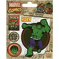 Pyramid International Marvel Comics (Hulk Retro) pegatinas de vinilo, papel, multicolor, 10x 12,5x 1,3cm