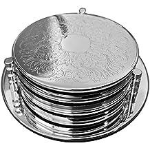 Sottobottiglia con 6sottobicchieri Classic 7pezzi set argento placcato argento