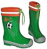 Gummistiefel Fußball Sport grün - mit Reflektor