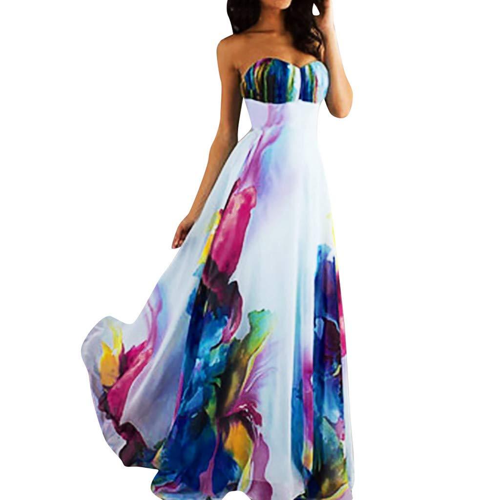 best loved 3dedc 47f6a JJggsi4 Vestito Elegante da Donna Vestito Corto Elegante Abito da Donna  Elegante in Chiffon Vintage con Maniche Lunghe a Tubino in Stile Vintage  Color ...