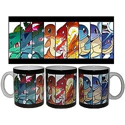 Taza Pokemon Iniciales de Kantho + chapa