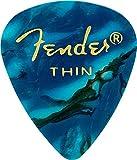Fender 351 Classic Celluloid Picks 12-Pack (Ocean Turq)Thin
