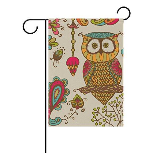 MyDaily Deko-Eulen und Blumen, Vintage doppelseitig, Garten-12und 18x 28x 40cm, Polyester, multi, 12 x 18 inch