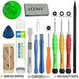 ACENIX® Most Complete Premium Repair Tool Kit for Apple iPhone 4, 4S, 5, 5C, 5S, 6, 6 Plus, 6s, 6s Plus, iPad 4, 3, 2, iPad Mini, iPods & Many More [14 Pieces] thumbnail