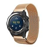 Ansenesna Sportuhr Armband Einstellen Luxus Milanese Edelstahl Uhrenarmband für Sport Digitaluhr Huawei Watch 2 (Roségold)