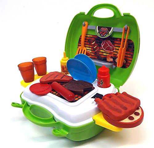 Preisvergleich Produktbild Brigamo 559 - Spielzeug Grill BBQ Set to go im Koffer Spielzeugset
