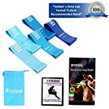 Fitzeal Resistance Rubber Bands with Workout Guide and Carry Bag Exercise Loops 12-inch