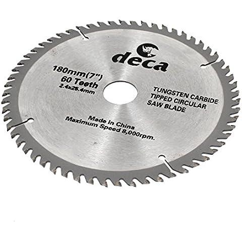 Disco de corte para madera 180 x 25,4 mm 60 dientes hoja para sierra Circular corte giratorio