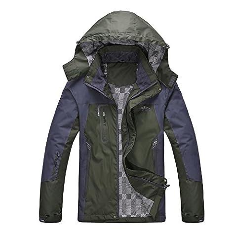 Diamond Candy men's Waterproof Breathable Outdoor Jacket Coat Hooded Sportswear