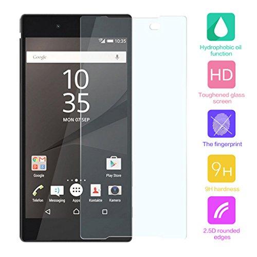 Cuitan Pellicola Protettiva in Vetro Temperato per Sony Xperia Z5, Ultra Sottile 0.33mm, 9H Durezza, 2.5D, Transparente, Antigraffio, Anti-impronte Display Protezione dello Schermo Tempered Glass Screen Protector per Sony Xperia Z5 -
