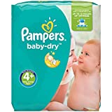 Pampers - Baby Dry - Couches Taille4+ (9-18kg/Maxi+) - Pack Economique1 mois de consommation (x152couches)