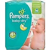 Pampers Baby Dry Windeln, Gr.4+ (Maxi+) 9-18kg, Monatsbox, 152 Stück