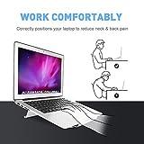 LONGKO Verstellbar Laptop-Ständer mit Lüfter – Notebook Stand mit USB Kabel aus Aluminium für MacBook Notebook iPad (weiß 1)