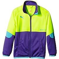 Puma Jacke It Evotrg Track Jacket - Chaleco de fútbol para niña, color amarillo, talla 128
