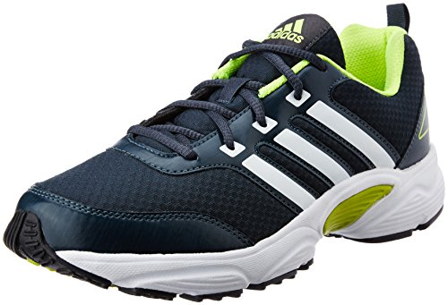 4. Adidas Men's Ermis M Grey, White and Yellow Mesh Sport Running Shoes