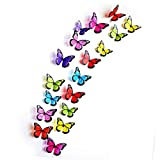 18pcs 3D Butterfly Wall Sticker Art Decal Home Decor PVC Removable Butterflies Decor