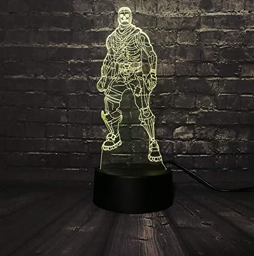 (Schädel trooper halloween 3d led nachtlicht figur cartoon charakter film marvel avengers abbildung 7 farbwechsel junge kinder spielzeug)