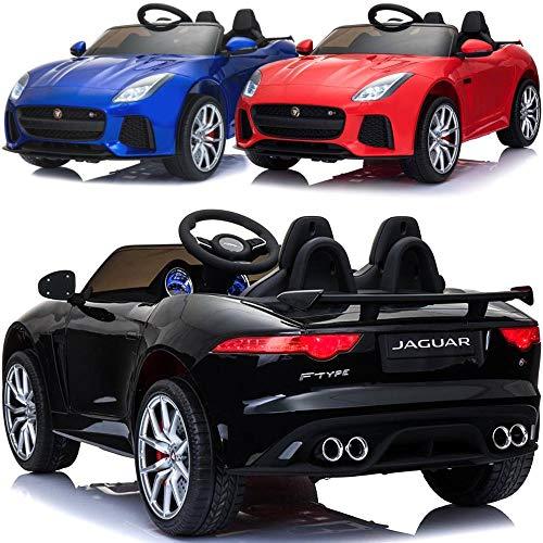 Jaguar Kinder Elektroauto elektrisches Kinderauto F-Type mit 12V Akku 2 Motoren Fernsteuerung Licht Musik Türen Federung