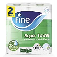 Fine, Paper Towel – Super Towel, Sterilized, 60 sheets x 2 Ply, pack of 2 rolls