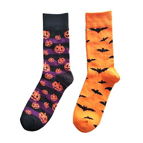 Centrawin Herren Bunt Halloween Kurbis laterne Schlager Muster Neu Komisch fur Manner Baumwolle Socken (Halloween-socken)