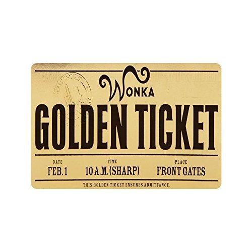 CDQPWEISAL Machine-Washable Willy Wonka Golden Ticket Chocolate Bar 3 Door Mat Decorative Doormat Indoor/Outdoor Doormat 23.6