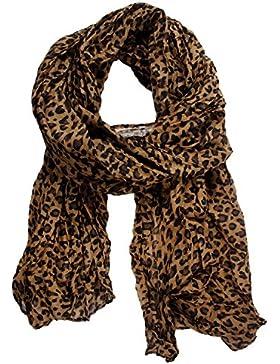 SODIAL(TM) Fashion Leopard Pattern Shawl Scarf Wrap for Women (accesorio de disfraz)