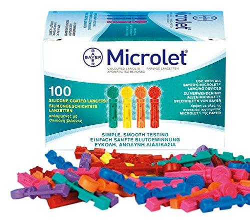 Microlet 6691181 Lanzetten, Bunt sortiert (100-er Pack) (Lanzette Microlet)
