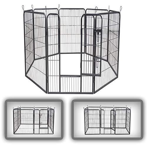 Zoomundo recinto per cani recinzione box cani conigli animali di ferro cucciolo gabbia - 8 pezzi - xxl