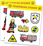 Feuerwehr Sticker Bogen
