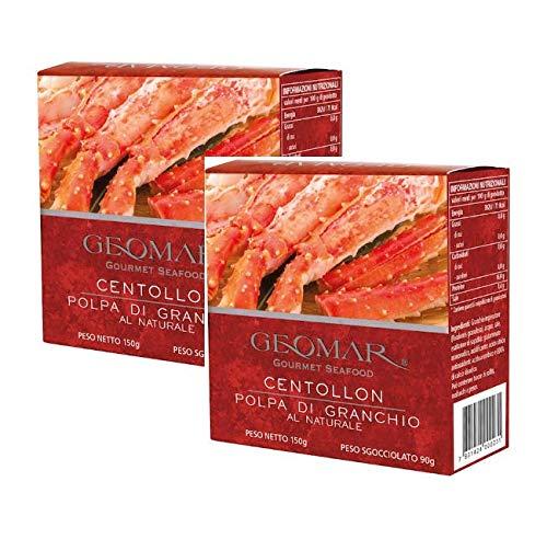 Geomar Gourmet Viande de Crabe Naturelle de Fruits de Mer Produite au Chili - 2 x 150 Grammes