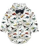 Infant Baby Boy Girl Cute Cartoon Dinosaur Long Sleeve Rompers Jumpsuit size 6-9 Months (Dinosaur)