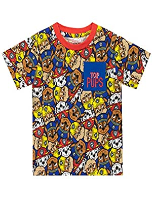 Paw Patrol Camiseta de Manga Corta para niños La Patrulla Canina