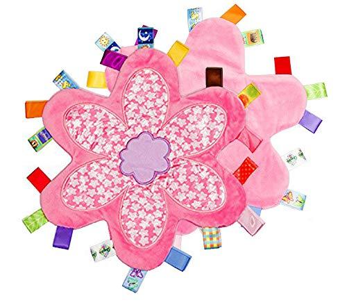 G-Tree Tag Couverture de sécurité - Keepsake Couverture de sécurité du nouveau-né bébé Idéal Bespoke Cadeau - Sécurité serviette apaisante doux doudou pour les enfants (rose)