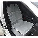 WYXIN Asiento de asiento de coche de mascota solo asiento plegable impermeable Oxford asiento de tela de respaldo amortiguador de gato del perro estrechamente co - , gray