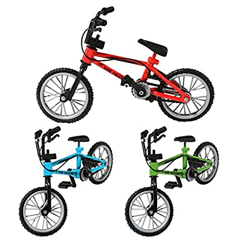 Pack of 3 Excellent Functional Finger Bicycle Mountain Bike Bicycle Model Set with Brake Line Boy Toy Creative Game Gift