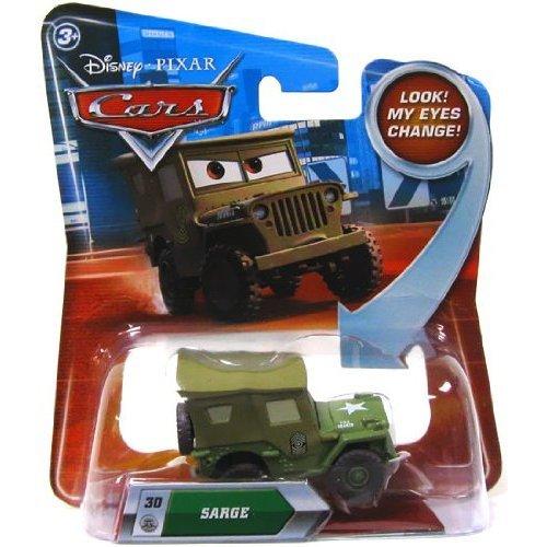 Disney Pixar Cars Sarge (lenticular, look! my eyes change!) - Véhicule Miniature - Voiture
