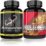 Holaxen & Amostrax By Varg Power | Testo Booster Extreme | Muskelaufbau Paket | 240 Kapseln | Testosteron Booster Kapseln für Muskelaufbau Phase | Hochdosiert | Beliebt im Bodybuilding und Kraftsport