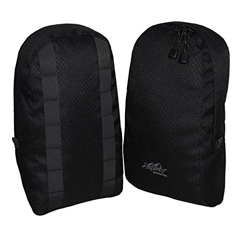 Tashev universelle Rucksack Seitentaschen Extrataschen Zusatztaschen (Schwarz) (Seitentasche Rucksack)