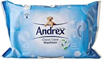 Andrex Classic Clean washlets flushable 504 wipes (12 X 42 Wipes)