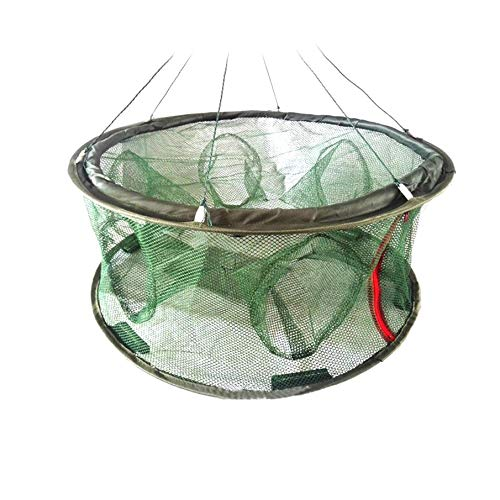 KNOSSOS Folded Fishing Net Mesh Fish Basket Shrimp Minnow Lobster Crab Trap Cages
