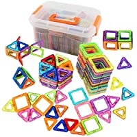 95pcs Magnetic Building Blocks DIY Construction Bricks Puzzle Education Toy for Children Kids Gifts with Storage Bag