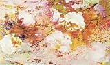 wash+dry Loving Rose Fußmatte Acryl orange 70 x 120 x 0.9 cm
