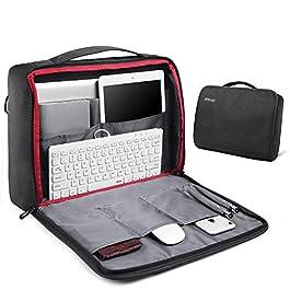 93e8e69bba REYLEO Borsa per PC Portatile 15.6 Pollici e Tablet Uomo Laptop Borsa  Messenger a Spalla Borsa ...