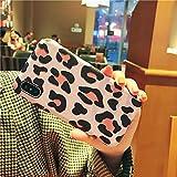 GUYISJK iPhone-Handyhülle Mobile Phone Case Persönliche Leopard Damen Mode Silikon Lanyard Handytasche, 7 P 8 P Pink Leopard Seide Muster